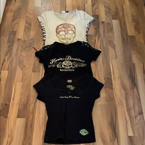 Harley-Davidson Tops - Lot of 3 Ladies Harley Davidson tees size Small